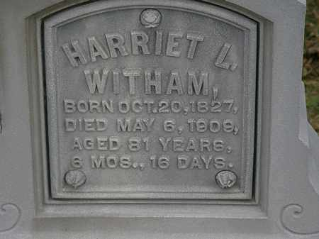 WITHAM, HARRIET L. - Morrow County, Ohio | HARRIET L. WITHAM - Ohio Gravestone Photos