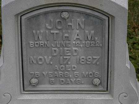 WITHAM, JOHN - Morrow County, Ohio | JOHN WITHAM - Ohio Gravestone Photos