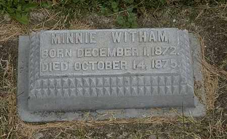 WITHAM, MINNIE - Morrow County, Ohio | MINNIE WITHAM - Ohio Gravestone Photos