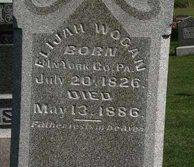 WOGAN, ELIJAH - Morrow County, Ohio | ELIJAH WOGAN - Ohio Gravestone Photos