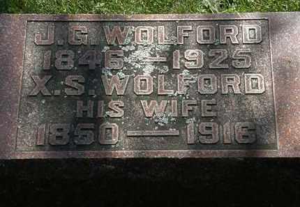 WOLFORD, J.G. - Morrow County, Ohio | J.G. WOLFORD - Ohio Gravestone Photos