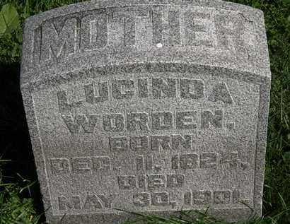 WORDEN, LUCINDA - Morrow County, Ohio | LUCINDA WORDEN - Ohio Gravestone Photos