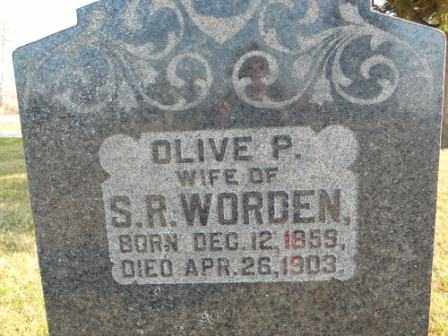 WORDEN, OLIVE P - Morrow County, Ohio | OLIVE P WORDEN - Ohio Gravestone Photos