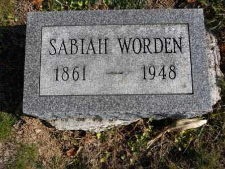 WORDEN, SABIAH - Morrow County, Ohio | SABIAH WORDEN - Ohio Gravestone Photos