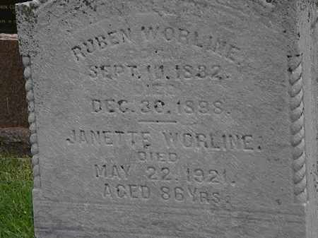 WORLINE, JANETTE - Morrow County, Ohio | JANETTE WORLINE - Ohio Gravestone Photos