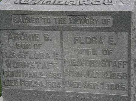 WORNSTAFF, FLORA E. - Morrow County, Ohio | FLORA E. WORNSTAFF - Ohio Gravestone Photos