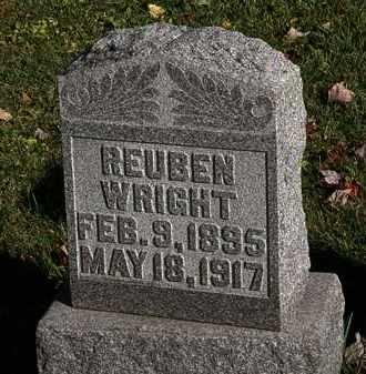 WRIGHT, REUBEN - Morrow County, Ohio | REUBEN WRIGHT - Ohio Gravestone Photos