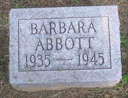 ABBOTT, BARBARA - Muskingum County, Ohio | BARBARA ABBOTT - Ohio Gravestone Photos