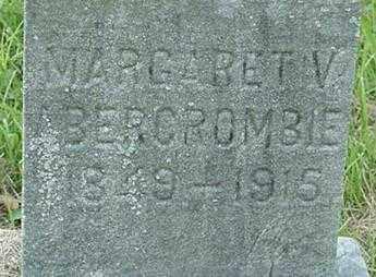 ABERCROMBIE, MARGARET V. - Muskingum County, Ohio | MARGARET V. ABERCROMBIE - Ohio Gravestone Photos