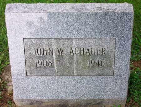 ACHAUER, JOHN W. - Muskingum County, Ohio | JOHN W. ACHAUER - Ohio Gravestone Photos