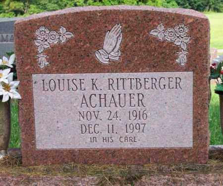 RITTBERGER ACHAUER, LOUISE K. - Muskingum County, Ohio | LOUISE K. RITTBERGER ACHAUER - Ohio Gravestone Photos