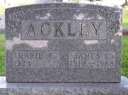 ACKLEY, JAMES E. - Muskingum County, Ohio | JAMES E. ACKLEY - Ohio Gravestone Photos