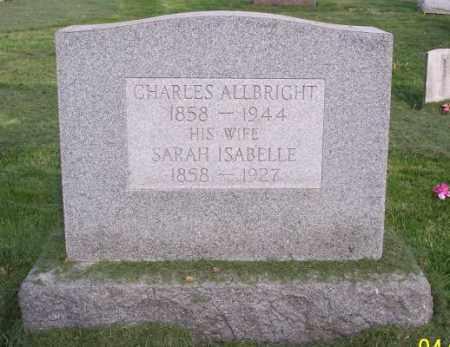 ALLBRIGHT, SARAH ISABELLE - Muskingum County, Ohio | SARAH ISABELLE ALLBRIGHT - Ohio Gravestone Photos