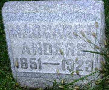 ANDERS, MARGARET - Muskingum County, Ohio | MARGARET ANDERS - Ohio Gravestone Photos
