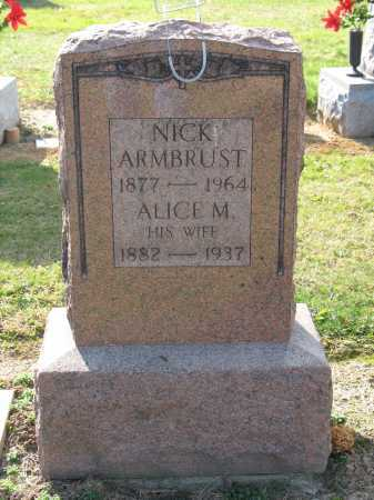 ARMBRUST, NICK - Muskingum County, Ohio | NICK ARMBRUST - Ohio Gravestone Photos