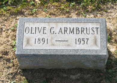 ARMBRUST, OLIVE G. - Muskingum County, Ohio | OLIVE G. ARMBRUST - Ohio Gravestone Photos