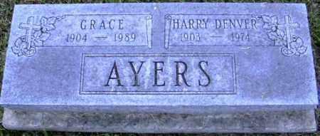 AYERS, GRACE - Muskingum County, Ohio | GRACE AYERS - Ohio Gravestone Photos