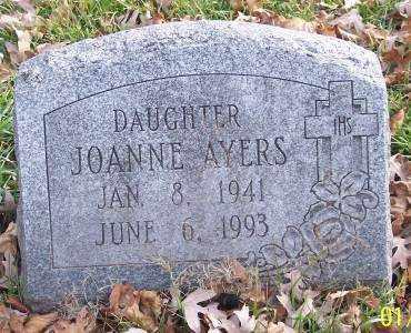 AYERS, JOANNE - Muskingum County, Ohio | JOANNE AYERS - Ohio Gravestone Photos