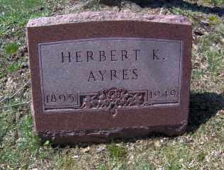 AYRES, HERBERT K - Muskingum County, Ohio | HERBERT K AYRES - Ohio Gravestone Photos