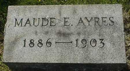 AYRES, MAUDE E. - Muskingum County, Ohio | MAUDE E. AYRES - Ohio Gravestone Photos