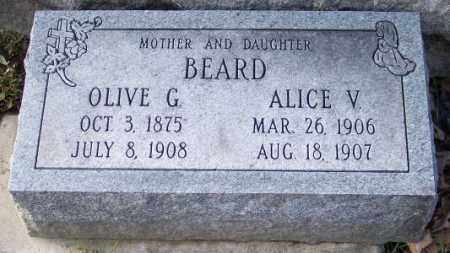 BEARD, ALICE V. - Muskingum County, Ohio | ALICE V. BEARD - Ohio Gravestone Photos