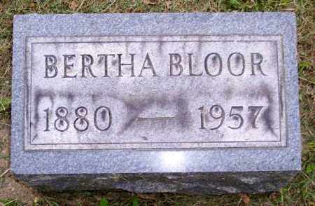 BLOOR, BERTHA - Muskingum County, Ohio | BERTHA BLOOR - Ohio Gravestone Photos