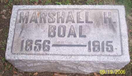 BOAL, MARSHALL H. - Muskingum County, Ohio | MARSHALL H. BOAL - Ohio Gravestone Photos