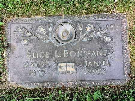 BONIFANT, ALICE L. - Muskingum County, Ohio | ALICE L. BONIFANT - Ohio Gravestone Photos
