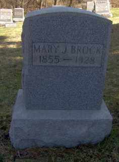 BROCK, MARY J - Muskingum County, Ohio | MARY J BROCK - Ohio Gravestone Photos