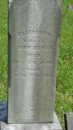 BROWN, ELIZABETH - Muskingum County, Ohio | ELIZABETH BROWN - Ohio Gravestone Photos