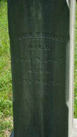 BROWN, JOHN - Muskingum County, Ohio | JOHN BROWN - Ohio Gravestone Photos