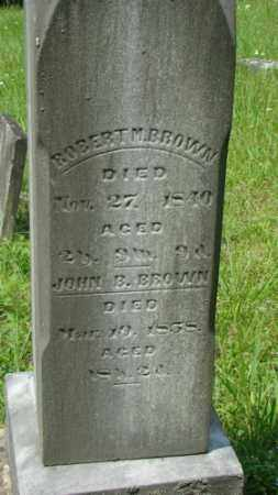 BROWN, JOHN B. - Muskingum County, Ohio | JOHN B. BROWN - Ohio Gravestone Photos