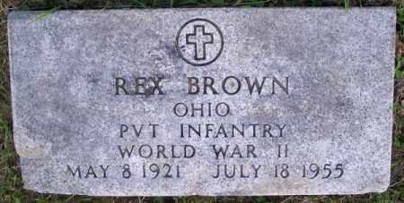 BROWN, REX - Muskingum County, Ohio | REX BROWN - Ohio Gravestone Photos