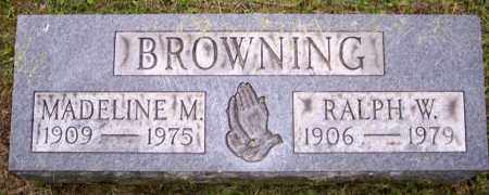 BROWNING, MADELINE M. - Muskingum County, Ohio | MADELINE M. BROWNING - Ohio Gravestone Photos