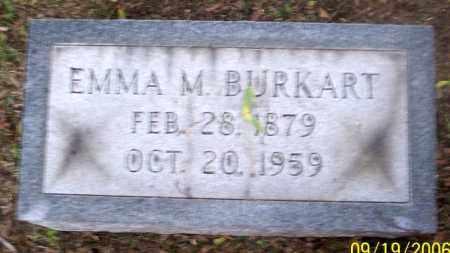 BURKART, EMMA M. - Muskingum County, Ohio   EMMA M. BURKART - Ohio Gravestone Photos