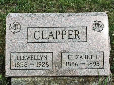 CLAPPER, ELIZABETH - Muskingum County, Ohio | ELIZABETH CLAPPER - Ohio Gravestone Photos