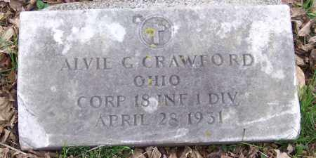 CRAWFORD, ALVIE G. - Muskingum County, Ohio | ALVIE G. CRAWFORD - Ohio Gravestone Photos