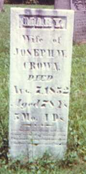CROWN, MARY - Muskingum County, Ohio | MARY CROWN - Ohio Gravestone Photos