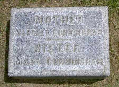CUNNINGHAM, MARY - Muskingum County, Ohio | MARY CUNNINGHAM - Ohio Gravestone Photos