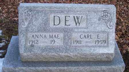 DEW, ANNA MAE - Muskingum County, Ohio | ANNA MAE DEW - Ohio Gravestone Photos