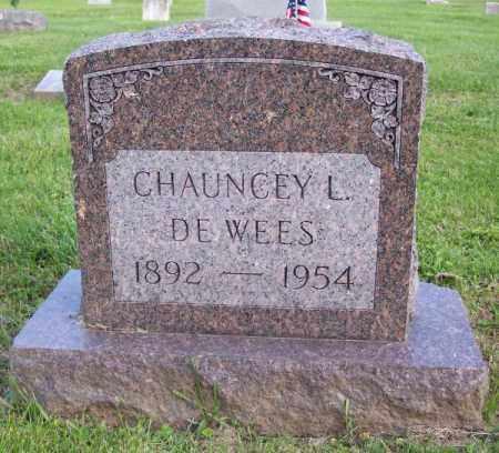 DEWEES, CHAUNCEY L. - Muskingum County, Ohio | CHAUNCEY L. DEWEES - Ohio Gravestone Photos