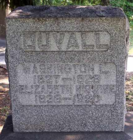 DUVALL, ELIZABETH - Muskingum County, Ohio | ELIZABETH DUVALL - Ohio Gravestone Photos