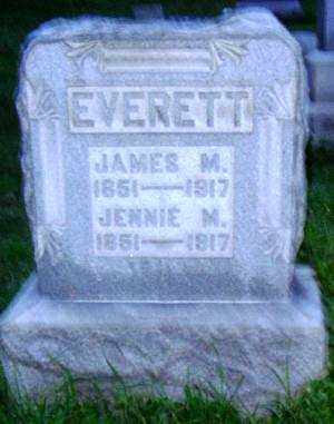 EVERETT, JENNIE M. - Muskingum County, Ohio | JENNIE M. EVERETT - Ohio Gravestone Photos