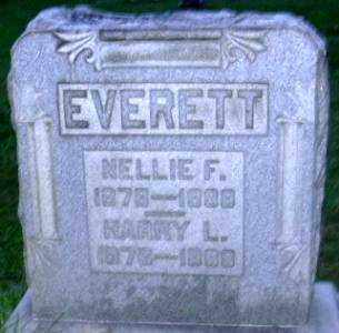 EVERETT, NELLIE F. - Muskingum County, Ohio | NELLIE F. EVERETT - Ohio Gravestone Photos