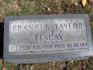 FINLAY, FRANCES TAYLOR - Muskingum County, Ohio | FRANCES TAYLOR FINLAY - Ohio Gravestone Photos