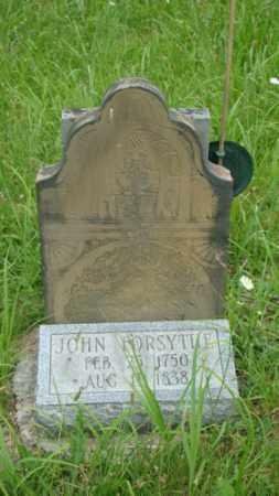 FORSYTHE, JOHN - Muskingum County, Ohio | JOHN FORSYTHE - Ohio Gravestone Photos