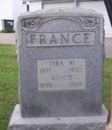 FRANCE, ALICE - Muskingum County, Ohio | ALICE FRANCE - Ohio Gravestone Photos