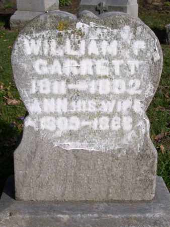 GARRETT, WILLIAM F. - Muskingum County, Ohio | WILLIAM F. GARRETT - Ohio Gravestone Photos