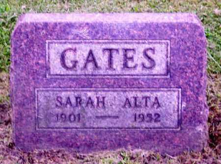 GATES, SARAH ALTA - Muskingum County, Ohio | SARAH ALTA GATES - Ohio Gravestone Photos