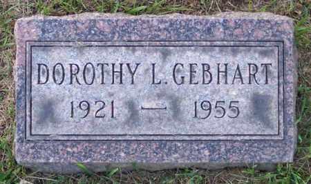 GEBHART, DOROTHY L. - Muskingum County, Ohio | DOROTHY L. GEBHART - Ohio Gravestone Photos